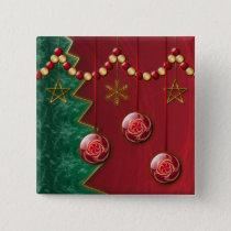 Fractal Celebration Christmas Button