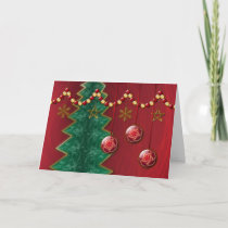 Fractal Celebration Christmas Card