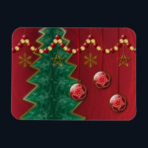 Fractal Celebration Christmas Flexible Magnet