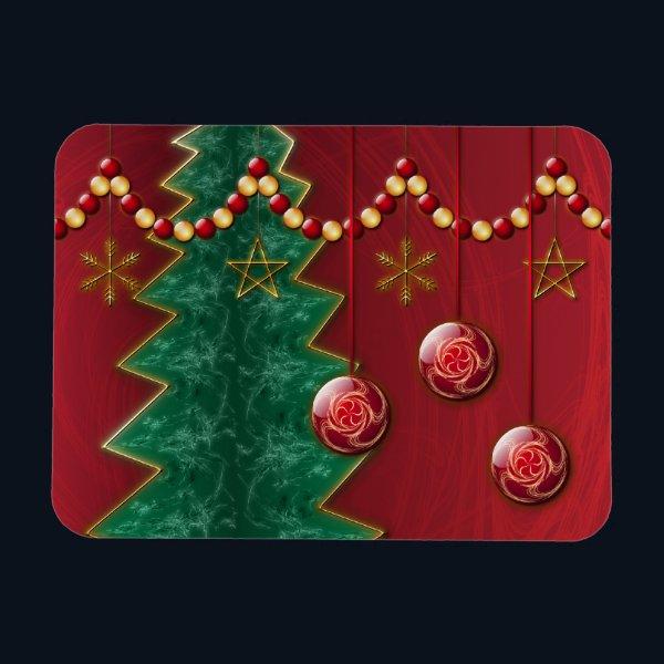 Fractal Celebration Christmas Flexible Magnet