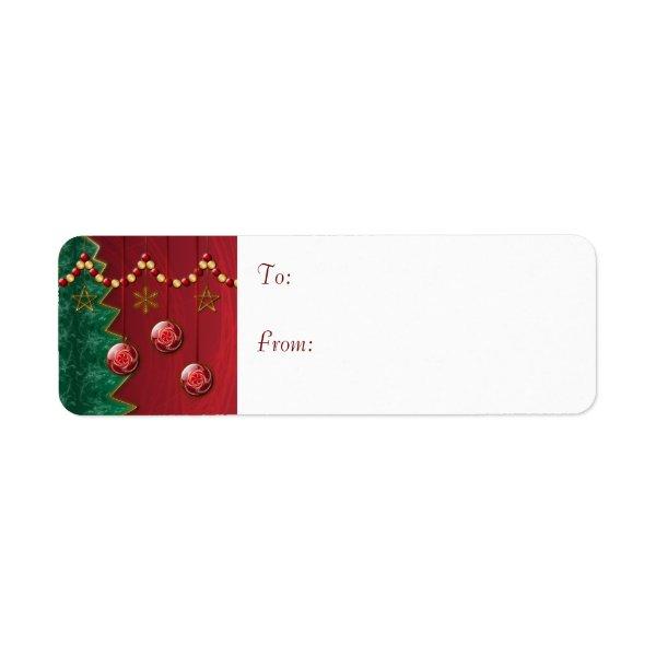 Fractal Celebration Christmas Gift Labels