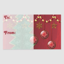 Fractal Celebration Christmas Gift Tag Stickers