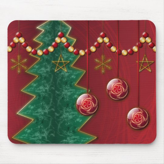 Fractal Celebration Christmas Mousepad