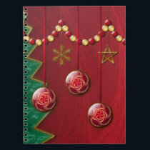 Fractal Celebration Christmas Notebook