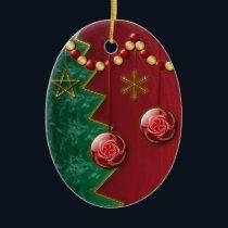 Fractal Celebration Christmas Ornament