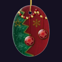 Fractal Celebration Christmas Ornament