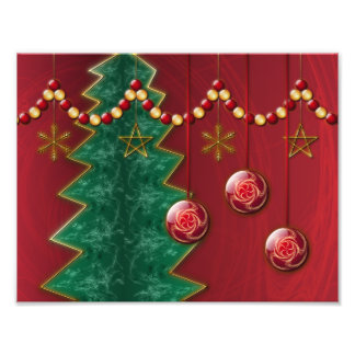 Fractal Celebration Christmas Photo Print