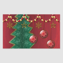 Fractal Celebration Christmas Stickers