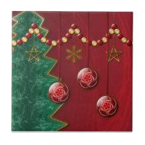 Fractal Celebration Christmas Tile