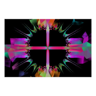 """Fractal """" Celestial  Ferris Wheel"""" Poster"""