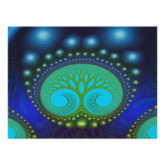 Fractal Celestial Forest Fine Abstract Art Poster