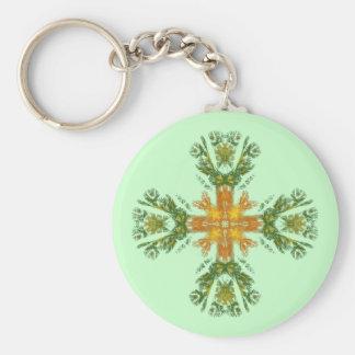 Fractal Celtic Cross Keychain