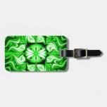 Fractal céltico verde etiqueta para maleta