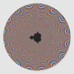 Fractal Central - Fractal Art Classic Round Sticker