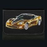 """fractal Chevrolet Corvette GT1 leather wallet<br><div class=""""desc"""">leather wallet</div>"""