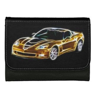 fractal Chevrolet Corvette GT1 leather wallet