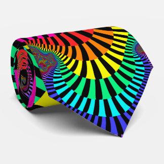 Fractal chillón de las rayas corbata personalizada