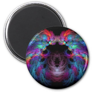 Fractal - Christ - Angels Wings 2 Inch Round Magnet