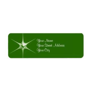 Fractal Christmas star Return Address Label