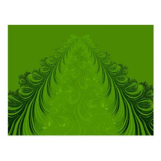 Fractal Christmas tree Postcard