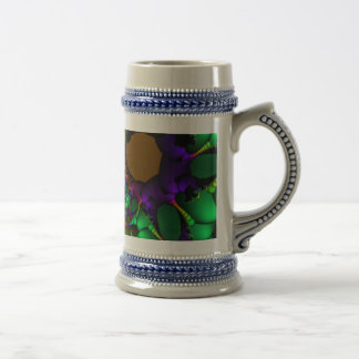 Fractal Circles and Bubbles Beer Stein