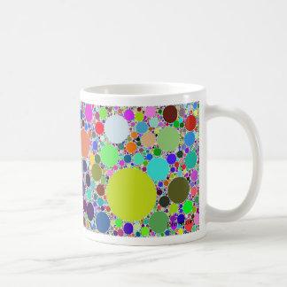 fractal circles randomized classic white coffee mug