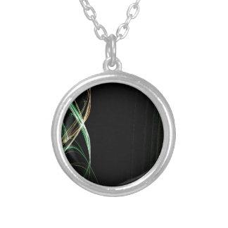 Fractal circular verde del espacio colgante redondo