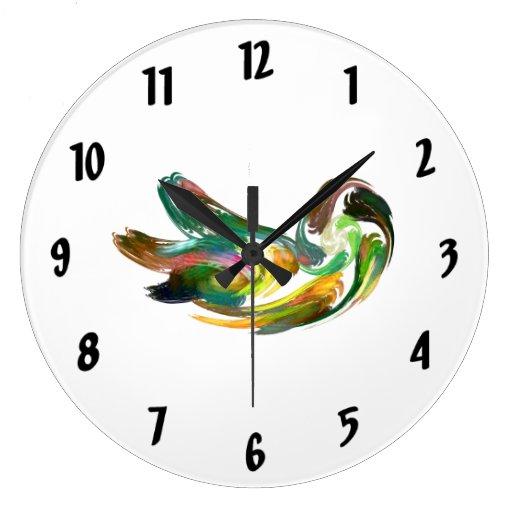 Fractal - cisne reloj redondo grande