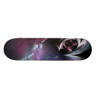 Fractal color de rosa rosado bonito patin personalizado