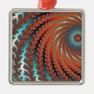 Fractal Color Image Metal Ornament