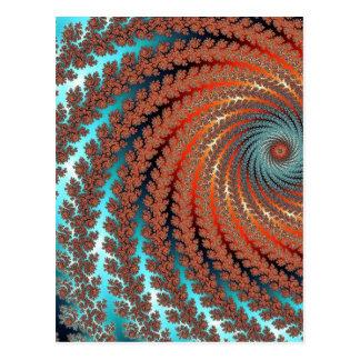 Fractal Color Image Postcard