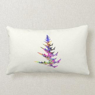 Fractal - Colorful Christmas Tree Throw Pillow