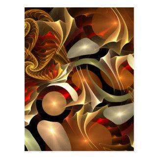 Fractal Colorful Design Postcard