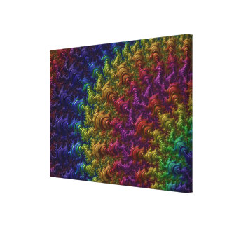 fractal COLORIDO AR de las ILUSTRACIONES de Impresiones En Lienzo Estiradas