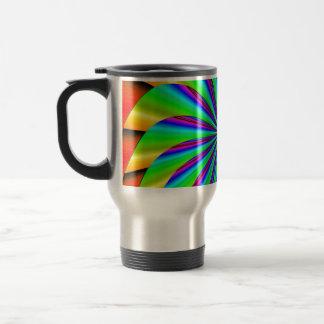 Fractal colorido brillante del molinillo de viento taza de viaje de acero inoxidable