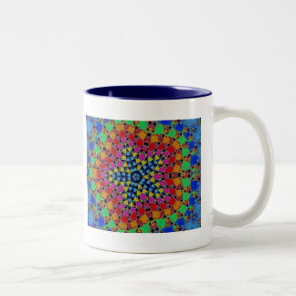 Fractal colorido de Kaliedscope del teñido anudado Tazas