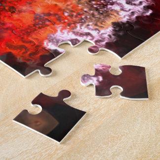 fractal colorido de los corazones del diseño puzzle