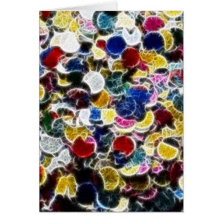 Fractal colorido del confeti tarjeton
