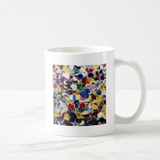 Fractal colorido del confeti tazas de café