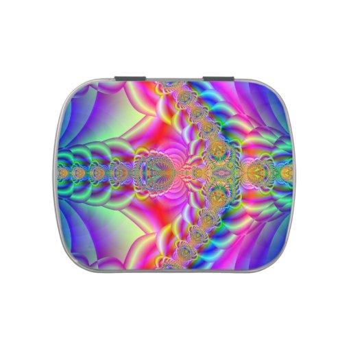 fractal colorido frascos de caramelos