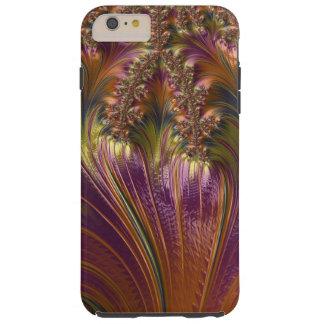 Fractal colorido hermoso de la raya de la fantasía funda de iPhone 6 plus tough