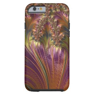 Fractal colorido hermoso de la raya de la fantasía funda de iPhone 6 tough