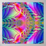 fractal colorido impresiones