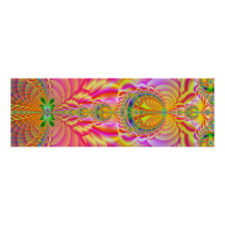 fractal colorido posters