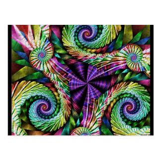 Fractal colorido que remolina tarjeta postal