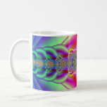 Fractal colorido tazas de café