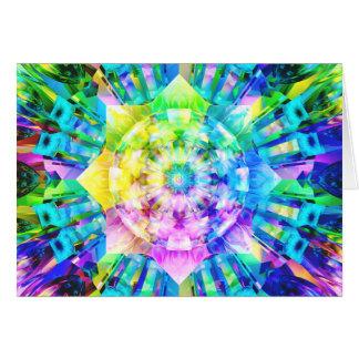 Fractal Colors Greeting Card
