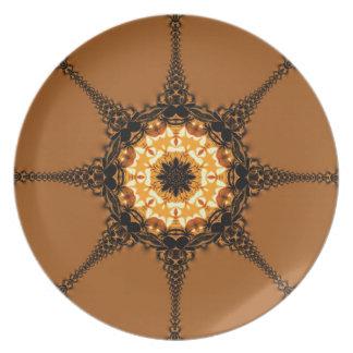 Fractal Compass Earth Star Plate