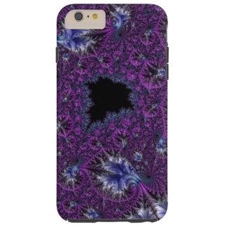 Fractal complejo púrpura violeta elegante funda resistente iPhone 6 plus