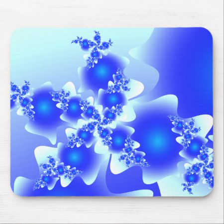 Fractal Cool Blue Mousepad